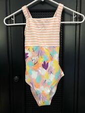 NWT Hanna Andersson 120 Pool Party One Piece Swimsuit Swim Suit Happy PinK