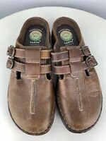 Earth Spirit Size 7 Gelron 2000 Kramer Closed Toe Sandals Brown Leather Slip On