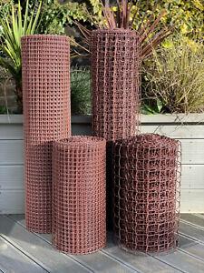 Plastic Fence Mesh Garden Border Netting Landscape Climbing Plant Trellis Brown