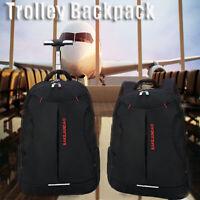 18''Trolley Wheeled Backpack Travel Luggage Suitcase Handbag Laptop Rucksack Bag