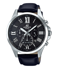 Casio Edifice Men's Quartz Chronograph Leather Band 47mm Watch EFV-500L-1AV