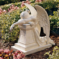 Victorian Rome Weeping Angel Of Grief Monument Resin Garden Statue
