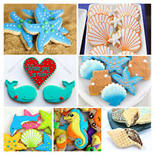 3pcs Seahorse Seashell Star Biscuit Pastry Cookie Cutter Cake Decor Mould Tools