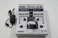 Edirol V-4 4 Channel Video Mixer Video Switcher Roland VJ Video Editor w/ PSU