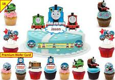 Thomas The Tank Engine Cup Cake Scene Toppers Wafer Edible STAND UP CUSTOM
