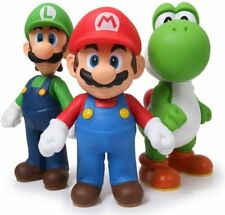 "Super Mario Bros Luigi & Yoshi & Mario 5"" Action Figures Birthday Gift Toys Set"