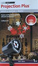 LED PROJECTION PLUS WHIRL MOTION/STATIC SANTA REINDEER SNOWFLAKES RED WHITE NIB