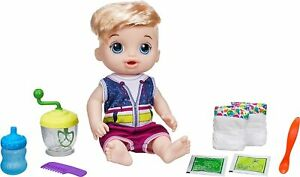 Hasbro Baby Alive Sweet Spoonfuls Baby Doll Blond Boy Doll  Male w/ Accessories