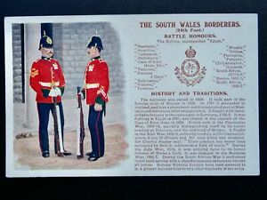 History & Tradition THE SOUTH WALES BORDERERS Postcard by Gale & Polden No.59