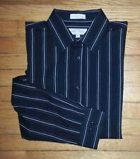1355c NWOT $40 XL Black White Stripes EIGHTY EIGHT L/S Casual Button Shirt!