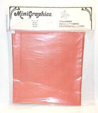 "Dollhouse Miniature Fabric by MiniGraphics 12"" X 13"" Salmon E89 Dollys Gallery"