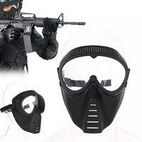 5814 Protective Airsoft Paintball Game Tactical Clear Lens Helmet Safety Mask