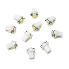 10X HOT T5 B8.5D 5050 1SMD Car LED Panel Dashboard Instrument Light Bulbs White