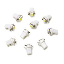 10X HOT T5 B8.5D 5050 1SMD Car LED Panel Dashboard Instrument Light Bulbs White