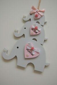 Elephant Nursery Decor, New Baby Girl Gift, Christening Gift, Baby Shower Gift
