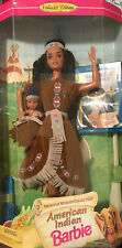 American Indian 1996 Barbie Doll Collectible With Baby And Book 10% To Charity
