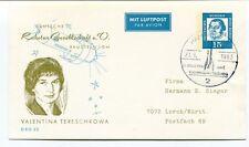 1963 Deutsche Raketen Gesellschaft Baustein 1 DM Valentina Tereschkowa Hamburg