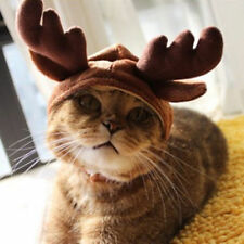 New Pet Cat Dog Cap Hat For Puppy Teddy Shapeshift Christmas Reindeer Costume