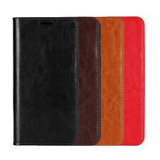REAL Leather Flip Stand Cover Custodia per Motorola Moto G8/G7 POWER/G6 Plus