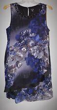 SLNY S.L. Fashions Black Floral Chiffon Overlay Dress-Size 18W-NWOT