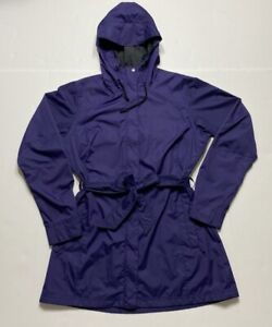 Columbia Womens Pardon My Trench Rain Jacket Purple Omni Shield Snaps Mesh L