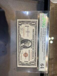 1935A $1 Hawaii (PCBlock) PMG CHOICE UNC 64 FR#2300