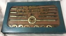 Vintage 20 Piece HECSHARP Tap & Die Wrench Set One Tapwrench  & Die Stock Japan