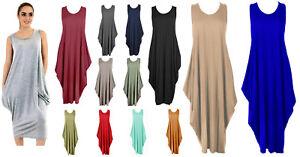 WOMENS PARACHUTE DRESS LADIES LAGENLOOK LONG TULIP BAGGY ROMPER LOOSE PLUS SIZE