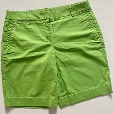 J. Crew Shorts  Green Chino Summer Weight Flat Front Cotton Sz 8
