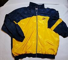 VTG 1980s Nike Windbreaker Track Jacket Shiny Yellow Size XXL