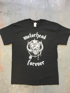 Motörhead Forever Screen Printed T-Shirt Size L Never Worn Lemmy Brand New