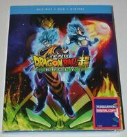 DRAGON BALL SUPER BROLY THE MOVIE(BLU-RAY+DVD+DIGITAL)W/SLIPCOVER - SEALED
