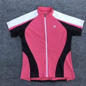 Bontrager Cycling Jersey Women's Size L Full Zip Back Pockets