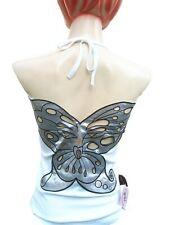 Rockabilly Punk Rock Baby BUTTERFLY RockaBella Phat Designer Neck-Top Shirt S
