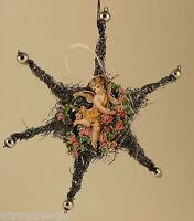 Christbaumschmuck Weihnachtsschmuck STERN aus Tinsel Engel Oblate Silberkugeln
