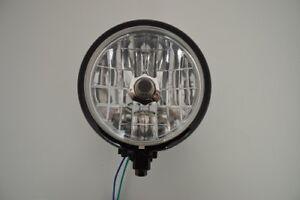 "6"" Black Steel Bottom Mount Motorbike Headlight  For Harley Davidson Dyna Sporty"
