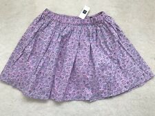 Brand New Girls Lilac Floral Pull Up Skirt Age 12-13 Years From Gap