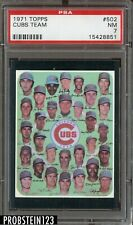 1971 Topps SETBREAK #502 Chicago Cubs Team PSA 7 NM