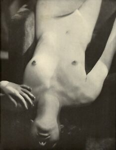1937 Alfred Cheney Johnson Nude Female Upside Down Torso Art Deco Photo Litho