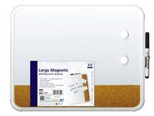 Pizarra magnética en seco limpie Mini Aviso Memo de oficina (inc: Imanes, pluma y goma de borrar)