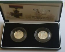 2006 Victoria Cross Silver Proof 50p Coin Set COA + BOX Slight Toned