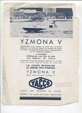N°10842 / YACCO 2 prospectus victoire en hords-bord 1933-1938