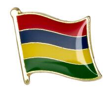 MAURITIUS - Flag Lapel Pin Badge  High Quality Gloss Enamel
