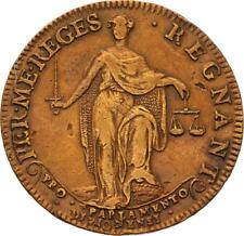 O3335 RARE Jeton R2 Louis XIV Parlement Dijon 1645 sceptre en main ->Faire offre