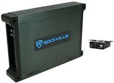 Rockville DBM12 2000w 2 Ohm Marine/Barco Mono Amplificador Amp cubre con + control Remoto De Bajos