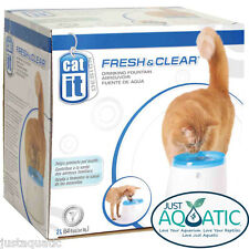 FREE SHIPPING Catit Fresh & Clear Drinking Fountain Station 2L for Dogs and Cats
