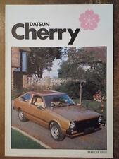DATSUN CHERRY RANGE orig 1980 UK Mkt Sales Brochure