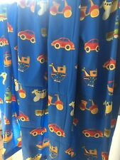 """Curtains Childrens Car Boat Plane Train Size 90""""W Each Curtain X 90""""L Lined"""