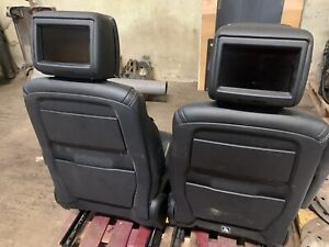 LAND ROVER DISCOVERY 5 L462 SET OF 2 FRONT LEATHER  WITH TV BLACK SEATS ✅✅✅