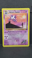 Sabrina's Haunter 55 Gym Challenge Uncommon Pokemon Card Near Mint